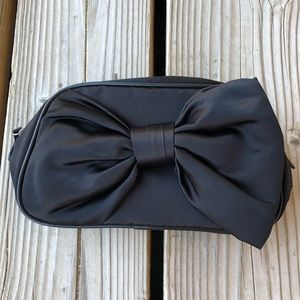 Adorable Dior Black Satin Bow Cosmetic Bag BNWOT!